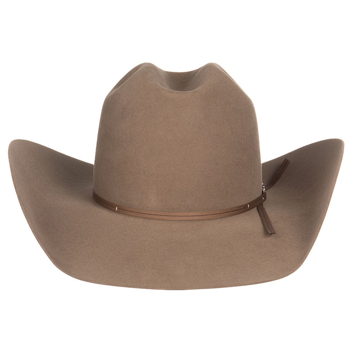 American Hat Co 7X Pecan Felt Hat with Matching 2 Cord Ribbon Felt Cowboy Hat