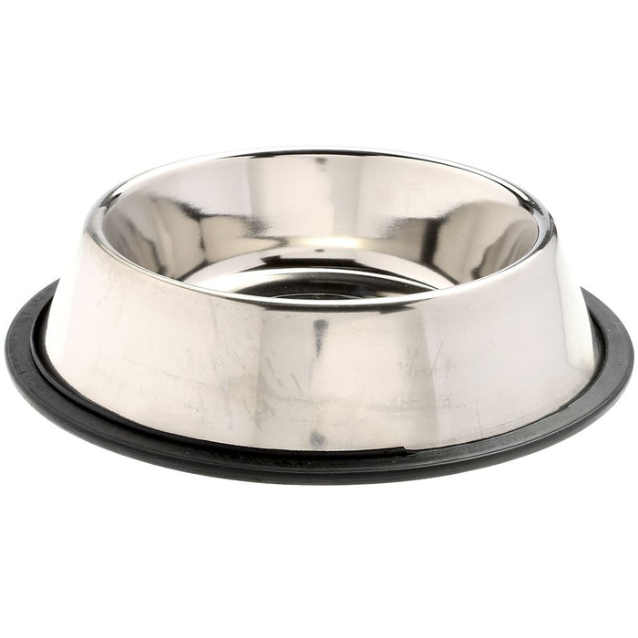 Leather Brothers Stainless Steel Non Tip Feeding Bowl 1 Quart