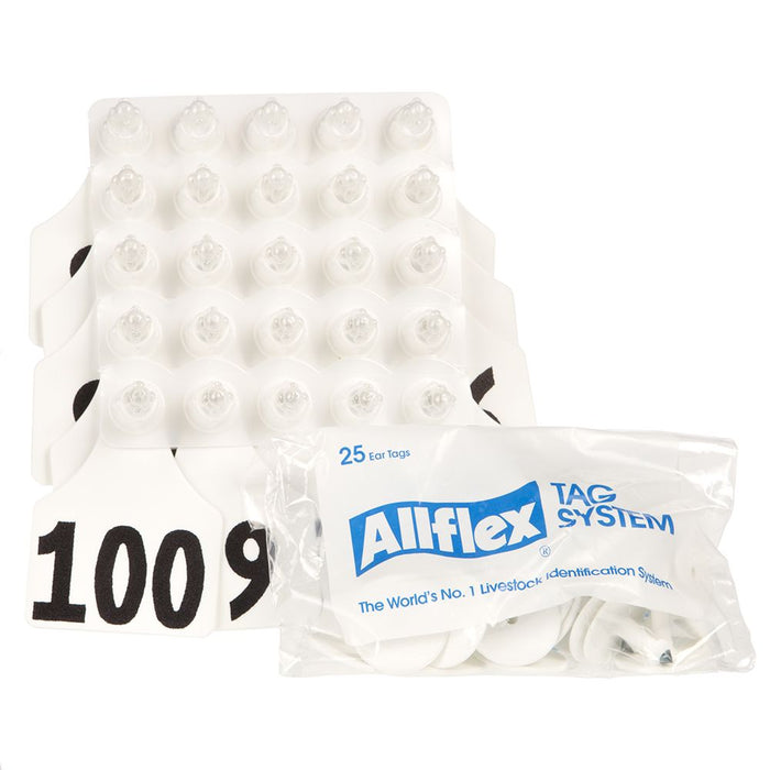 Allflex Large White 76-100 Cattle Ear Tags