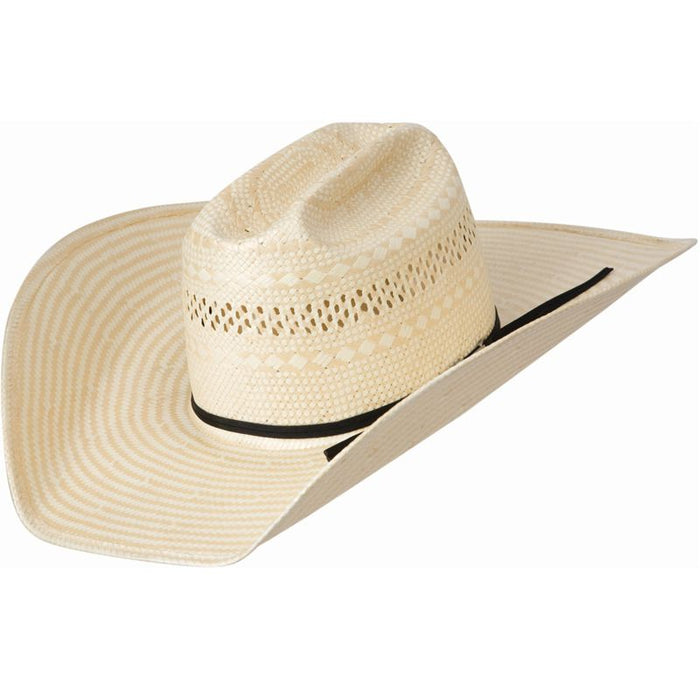 American Poli Rope Tan & Natural Straw 5in. Brim Open Crown Cowboy Hat