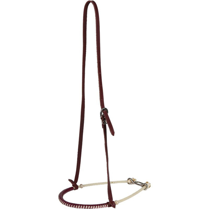 Single Rope Leather Covered Oxbow Tack Noseband
