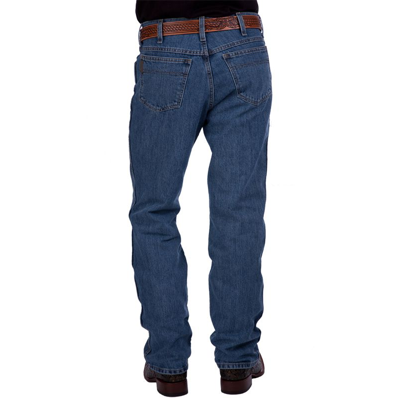 Men's Cinch Bronze Label Slim Fit Medium Stonewash Jeans