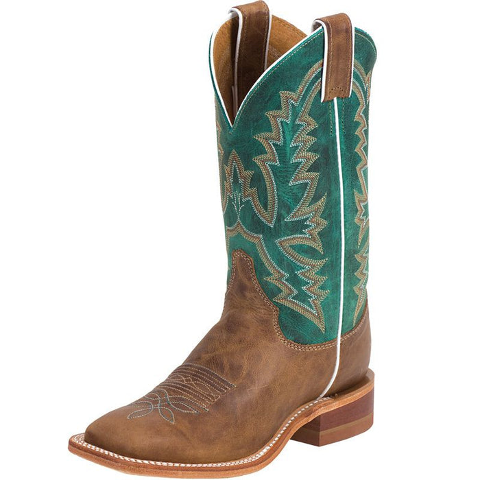Women's Justin Bent Rail American Burnished Tan Cowgirl Boots