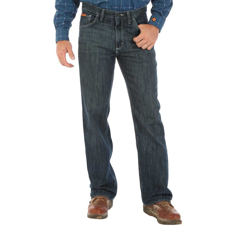 Wrangler FR 40 X 32 Denim Cotton Flame Resistant Jeans With Zipper Front Closure