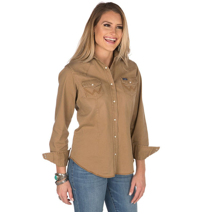 Women's Wrangler Long Sleeve Rawhide Snap Shirt