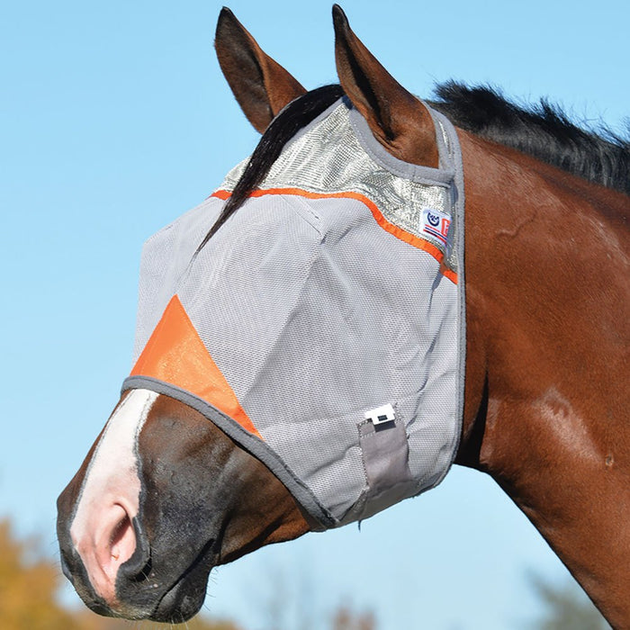 Animal Rescue Crusader Orange Fly Mask