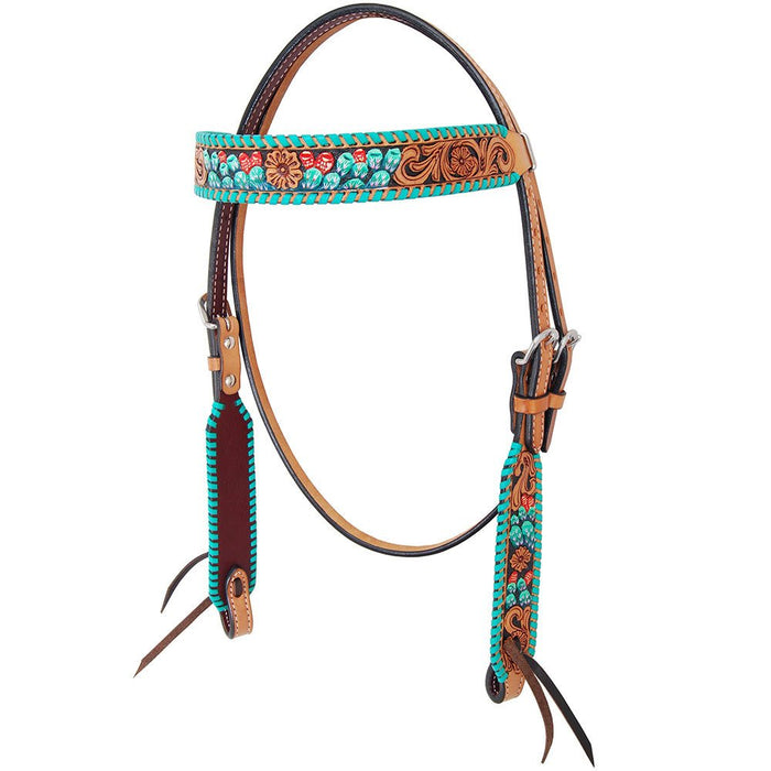 Rafter T Ranch Co. Painted Cactus Browband