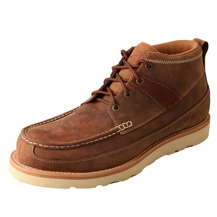 Mens Oiled Saddle Steel Toe Casual Shoe