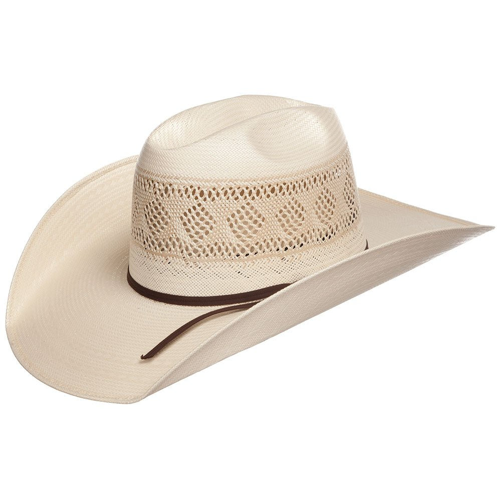 "Rodeo King All Around Diamond Vent Open Crown 4 1/4"" Brim Cowboy Hat"