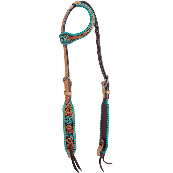 Rafter T Ranch Co. Painted Cactus Single Ear Headstall