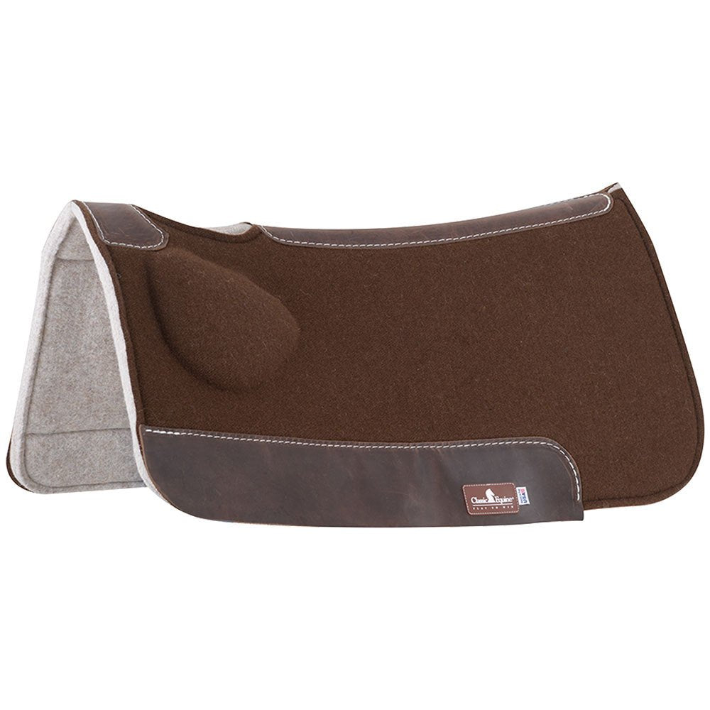 "Classic Equine Brown BioFit Correction Saddle Pad 31"" x 32"""