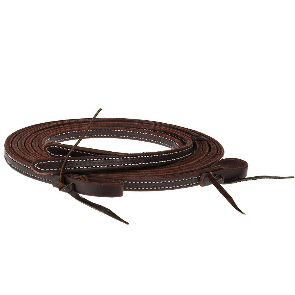 "NRS Tack 5/8"" x 7'6"" Oiled Latigo Double Stitched Split Reins"