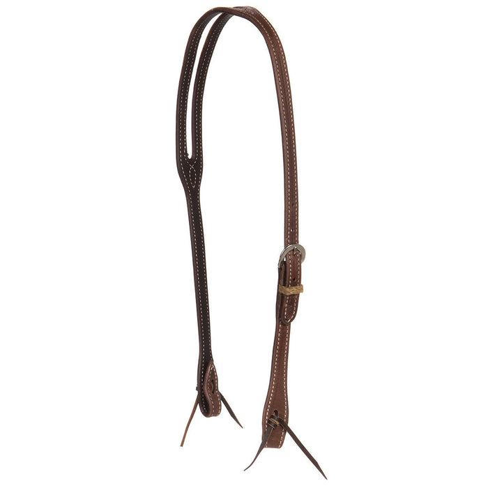 NRS Tack Latigo Lined Double Stitched Slot Ear Oiled Harness Headstall