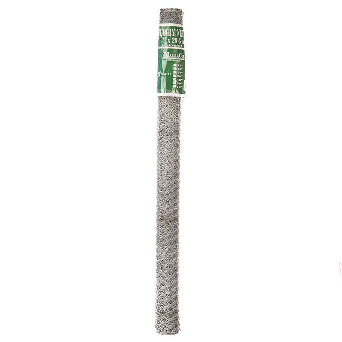 "Mazel 1 x 20 Galvanized Hex Netting - 48"" x 25'"