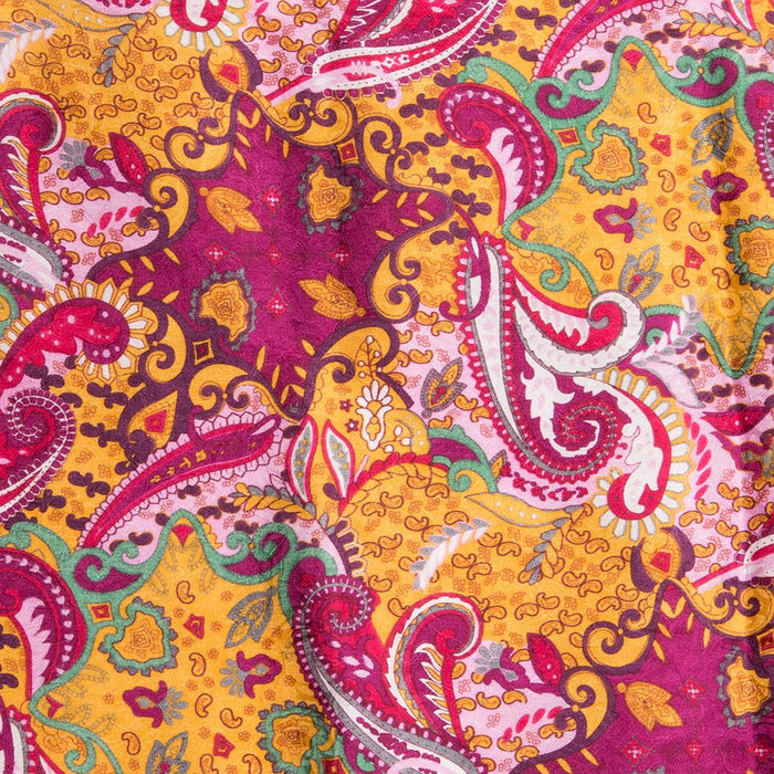 Paisley Lemon Berry/Raspberry Yellow Wild Rag