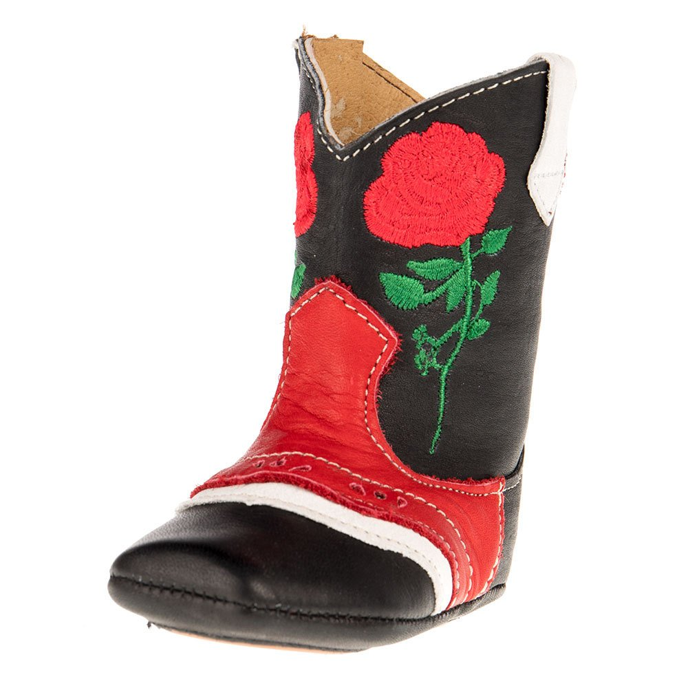 Kid's Shea Baby Ruby Rose Black and Red Boot
