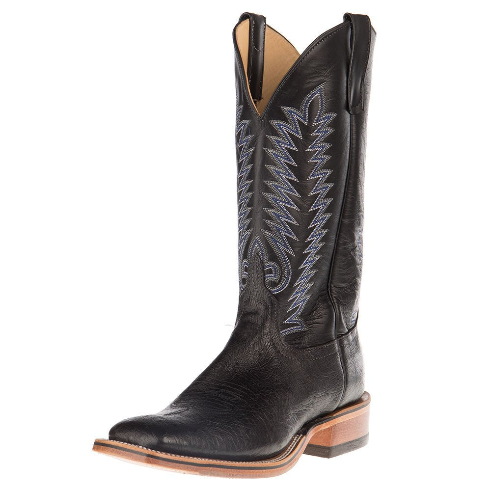 Men's NRS Ride Ready Anderson Bean Black Smooth Ostrich Cowboy Boots