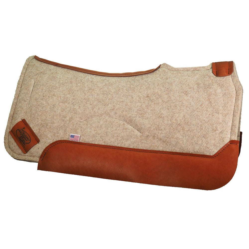 Impact Gel Contour Tan 3/4in. Saddle Pad
