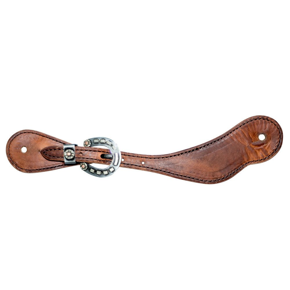 Cowboy Tack Mens Golden Harness Spur Straps