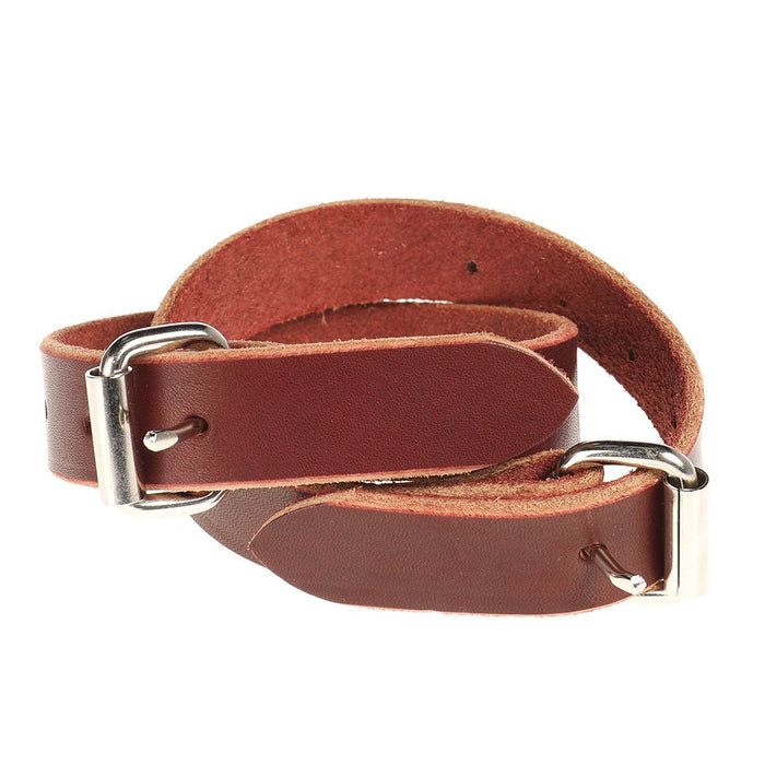 Saddle Barn Rough Stock Leather Boot Straps with Buckles