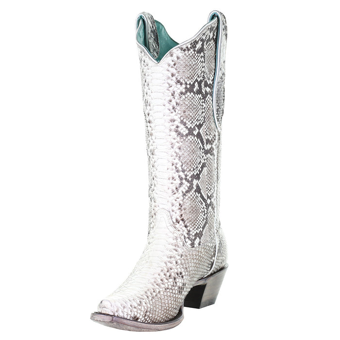 Womens Corral Natural Python Boot