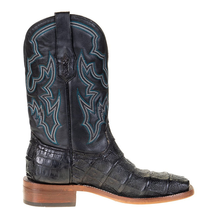 Men's Corral Rodeo Performance Black Caiman 12in. Black Embroidery Top Sq Toe