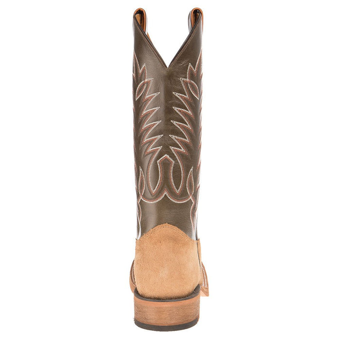Men's Justin Bent Rail Khaki Roughout Square Toe Cowboy Boot