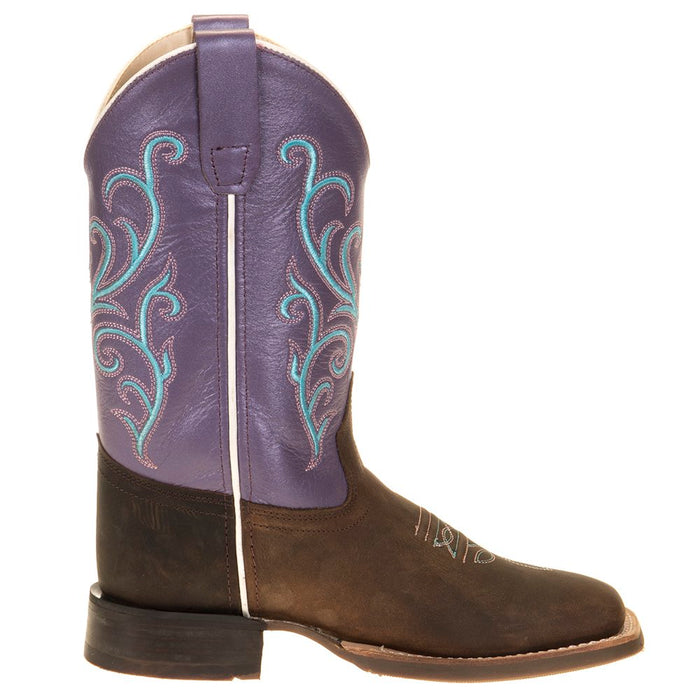 Infant Old West Purple Top Brown Foot Cowgirl Boot