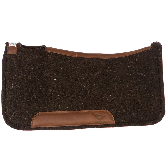 1 in Diamond Wool Contoured Tough Saddle Pad