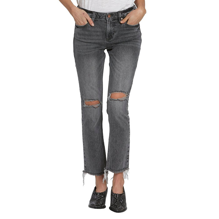 Womens Blaire Distressed High Rise Black Jeans
