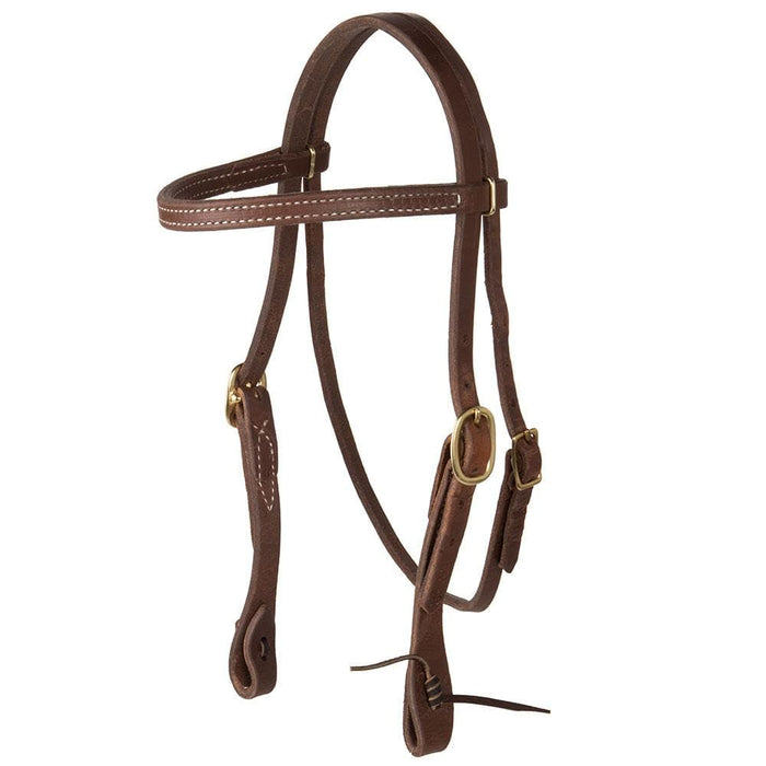 NRS by Dutton Twisted Sweet Iron D-Ring Snaffle Bit Bridle Set
