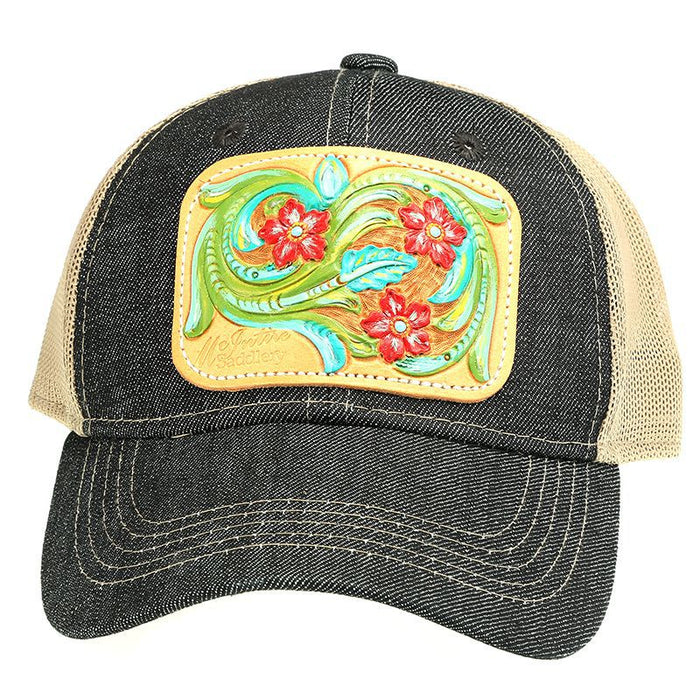 Women's McIntire Saddlery Painted Floral Denim Cap