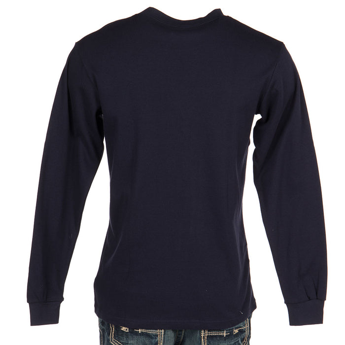 Mens Long Sleeve FR NavyTee Shirt