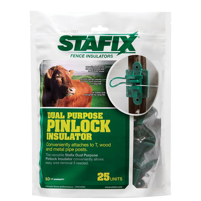 Stafix Dual-Purpose Pinlock Insulator 25/PK