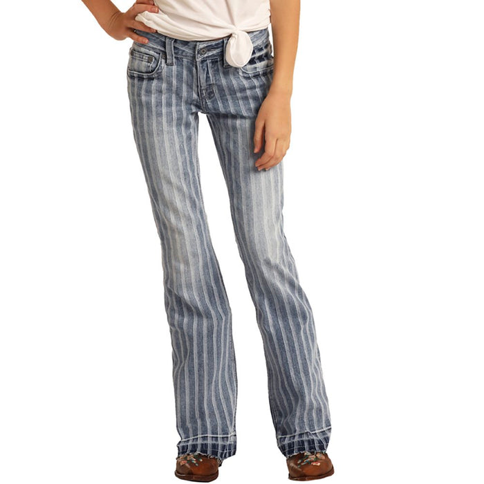 Girl's Rock N Roll Cowgirl Striped Trouser