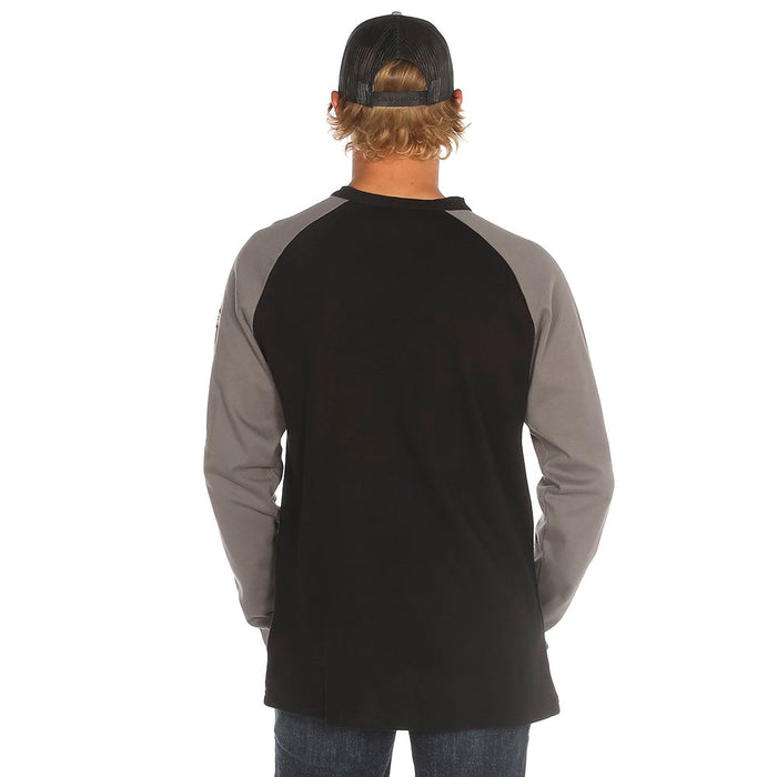 Men's Rasco Grey/Black Henley Flame Resistant T-Shirt
