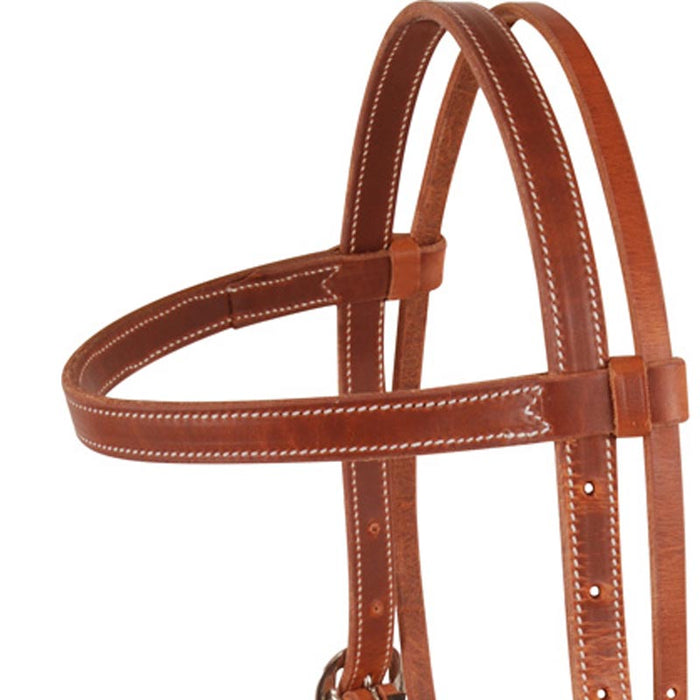 Martin Saddlery Double Stitched Browband Headstall