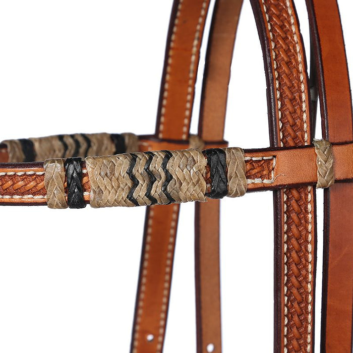 Rawhide Browband Headstall with Quick Change Bit Ends