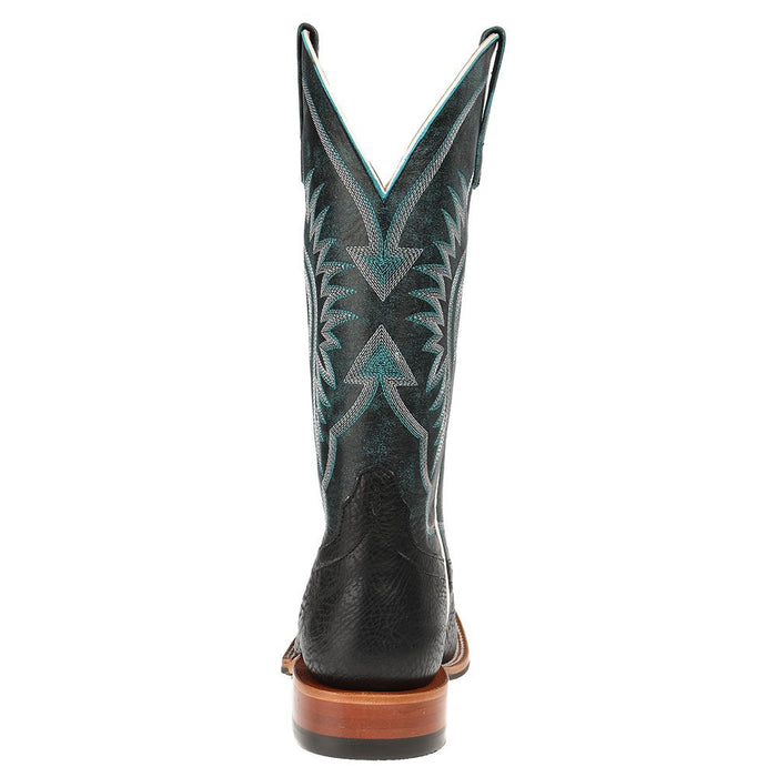Men's Horse Power Black Bull hide Cowboy Boots