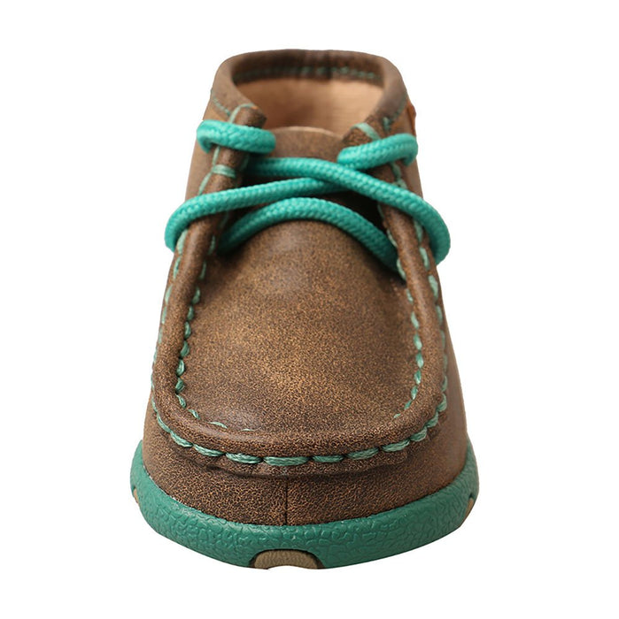 Infant Driving Mocs-Bomber/Turquoise