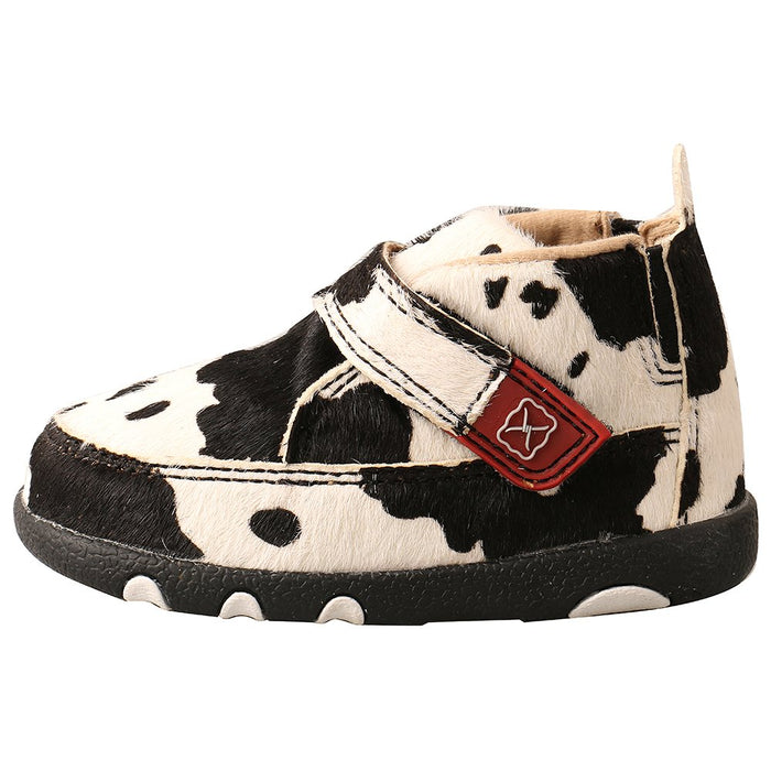 Infants Twisted X Hair on Hide Cow Print Driving Moc