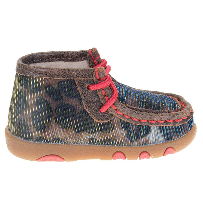 Infants Twisted X Shiny Leopard Driving Moc
