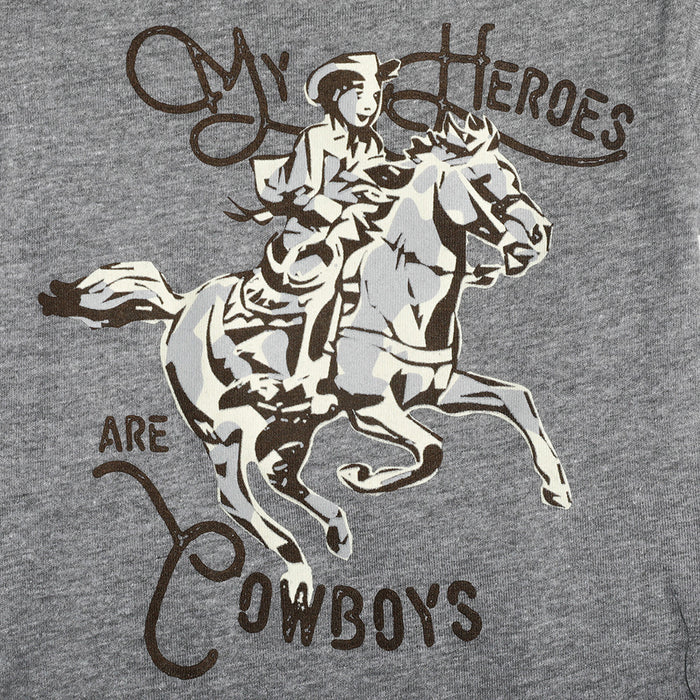 Boy's Rodeo Quincy My Heroes  Are Cowboys Onesie