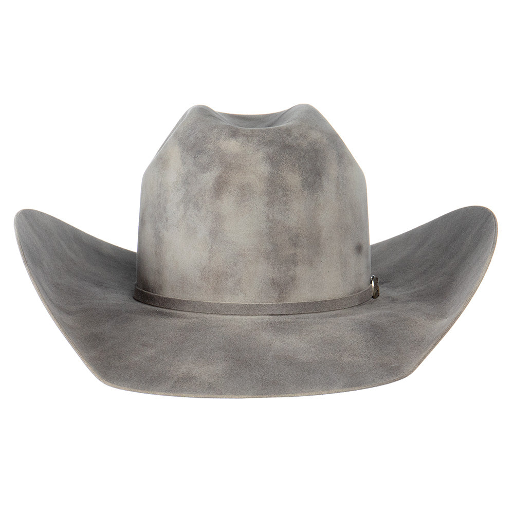JW Brooks Dark Smoke 50X 4 1/4in. Brim Open Crown Felt Cowboy Hat