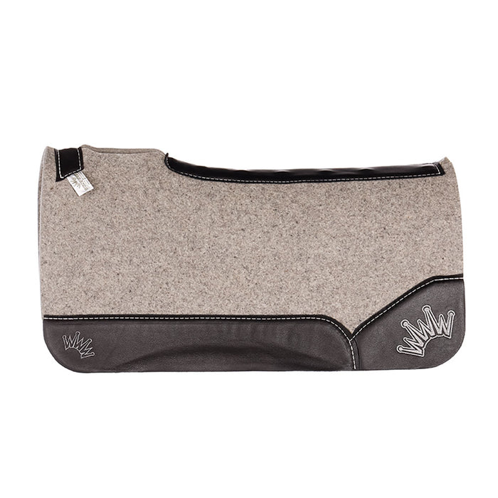 Best Ever 3/4in. Grey Kush Felt Pad with Black Wear Leathers