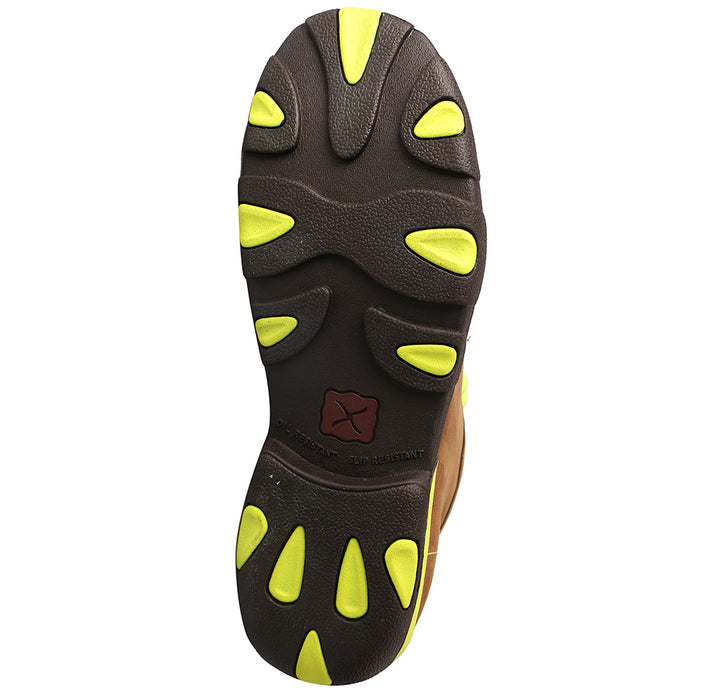Men's Twisted X Neon Yellow Steel Toe Driving Moc