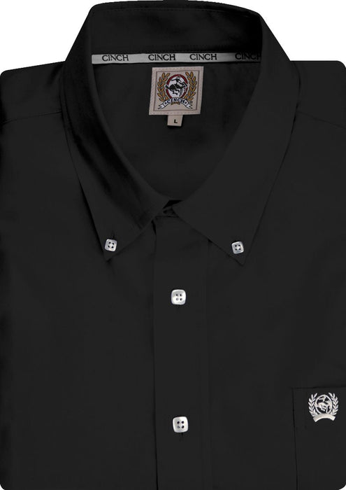 Men's Cinch Black Pinpoint Oxford Long Sleeve Shirt