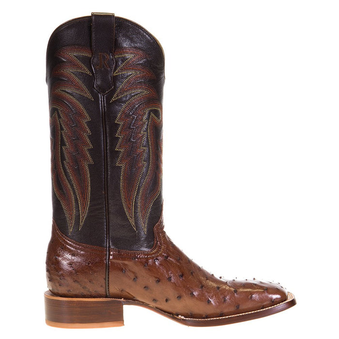 Men's R Watson Kango Tobac Full Quill Ostrich 13in. Espresso Goat Top Boots