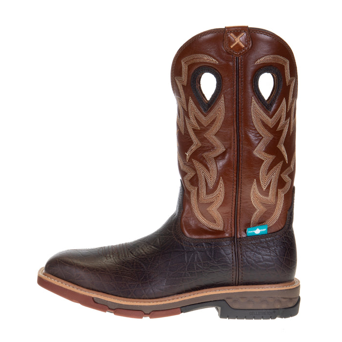 Men's Twisted X Smokey Chocolate 12in. Spice Top Alloy Toe Work Boot