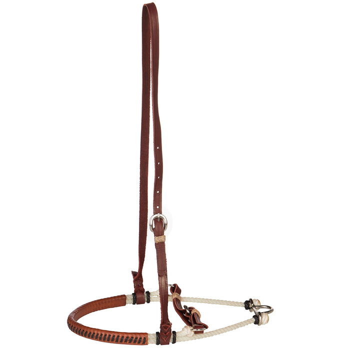 Leather Wrapped Caveson Noseband